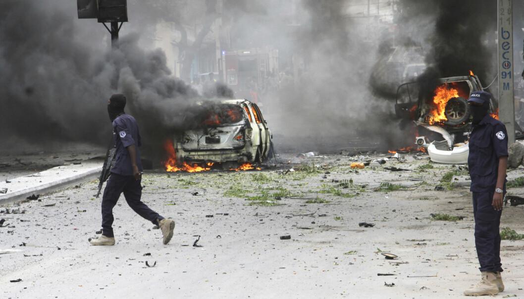 Terrorfrykten er stor i Europa, men bare 269 av fjorårets 13 488 terrorangrep i verden, fant sted i vesteuropeiske land. Land som Somalia (bildet) ble langt hardere rammet. (Foto: AP, NTB scanpix)