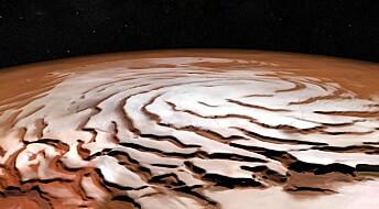 Mars har snøstormer om natten
