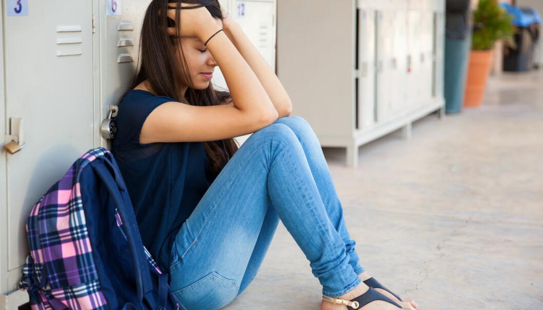 I to danske skoleklasser lå stressnivået hos 55 prosent elevene like høyt som hos 20 prosent av voksne dansker.  (Foto: antoniodiaz / Shutterstock / NTB scanpix)