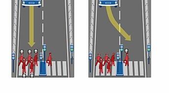 Hva skjer når selvstyrte biler skal bestemme over liv og død?