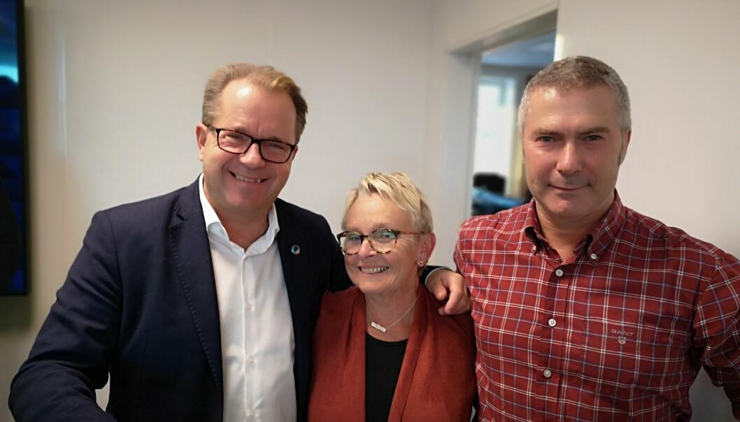 På bildet: fra venstre rektor Bjørn Olsen, styreleder Vigdis Moe Skarstein og dekan Egil Solli. (Foto: Nord universitet)