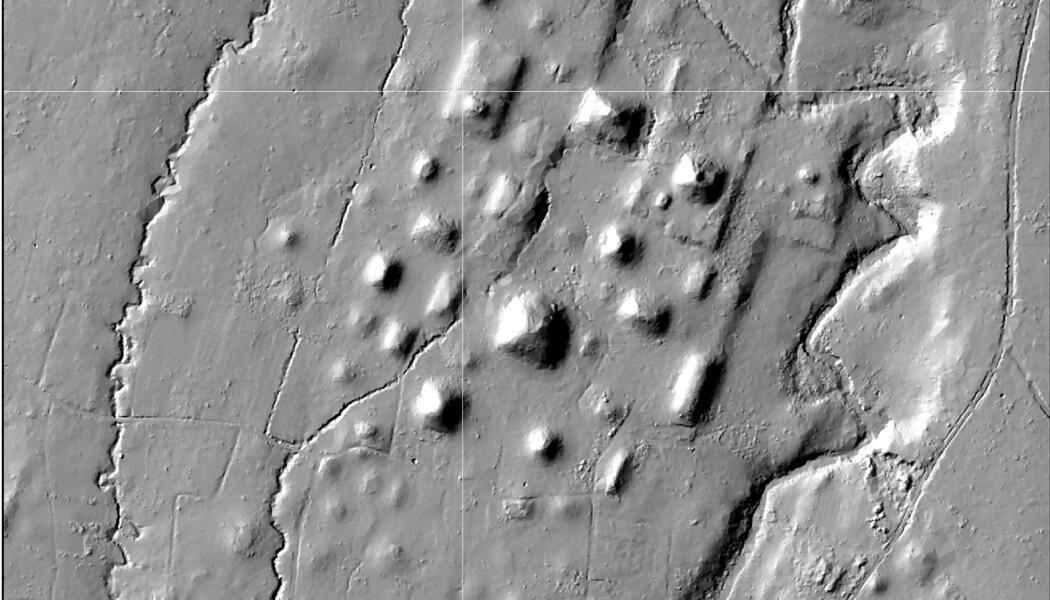 Ruinbyen Izapa sett med lidar. (BIlde: Rosenswig/López-Torrijos/Antiquity October 2018)