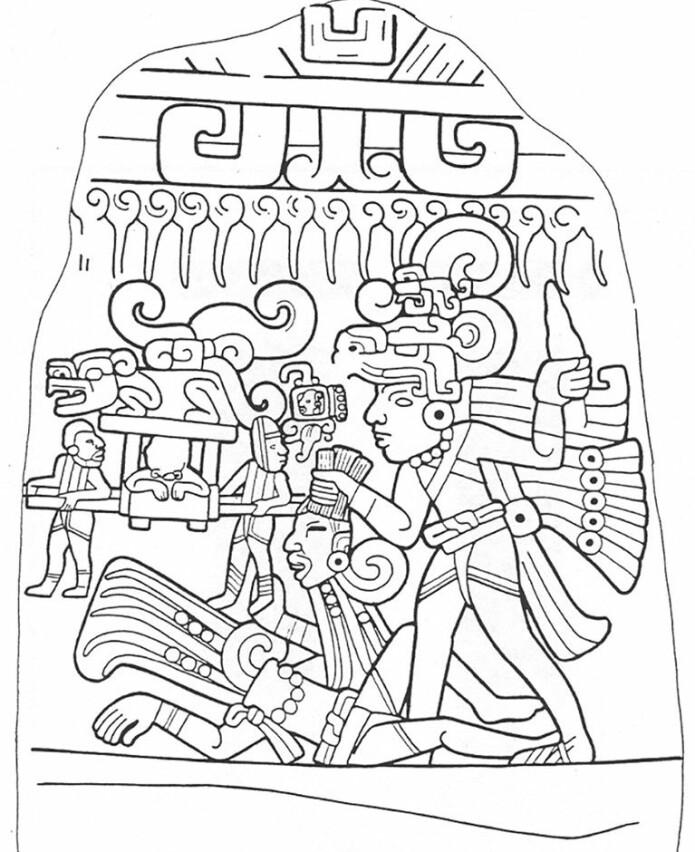 Utsnitt fra en tavle fra Izapa. (Bilde: Rosenswig/López-Torrijos/Antiquity October 2018)