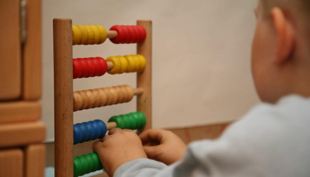 I en ny studie så forskere at barn som lå godt an i matematiske ferdigheter ikke alltid greide seg like bra to år senere.  (Illustrasjonsfoto: Colourbox)