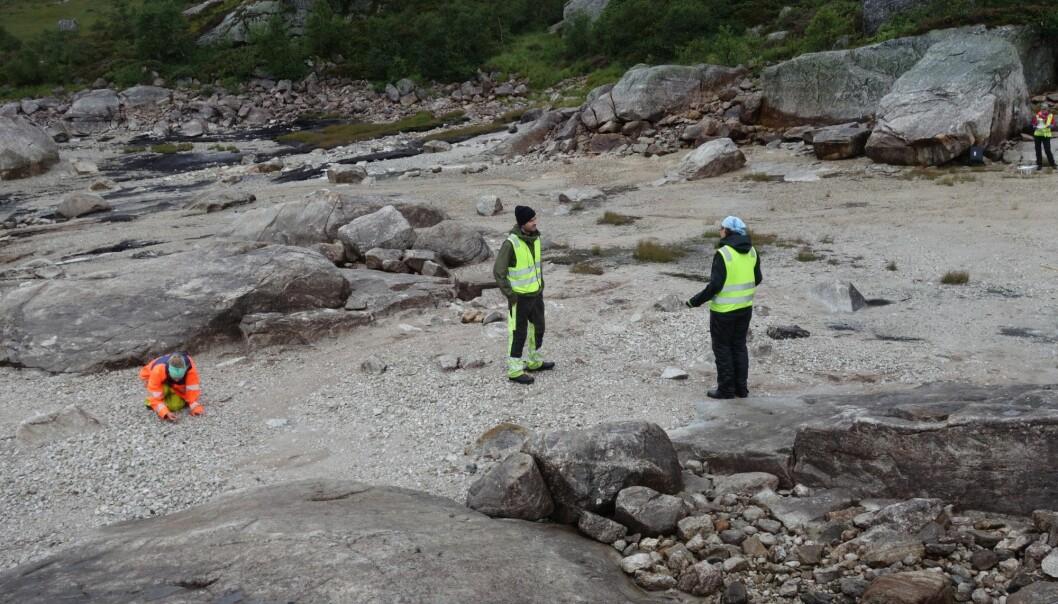 Arkeologene sørger også for å ta vare på de boplassene som allerede er funnet. (Foto: Arkeologisk museum, Universitetet i Stavanger)