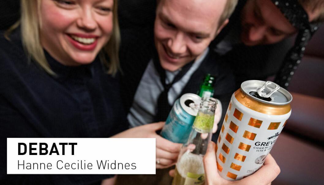 - Det er fortsatt et behov for å gjøre noe med nordmenns forhold til alkohol. Det er lov til å kose seg med alkohol. Utfordringen i vår kultur er derimot at det er vanskelig å velge bort alkohol, skriver Hanne Cecilie Widnes, generalsekretær i IOGT. (Illustrasjonfoto: Gorm Kallestad / NTB Scanpix)