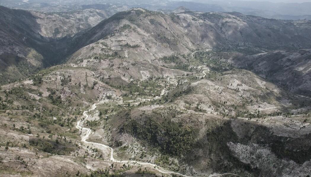 Avskogede fjellområder på Haiti. Dette er Massif de la Hotte. (Bilde: Eladio Fernandez)