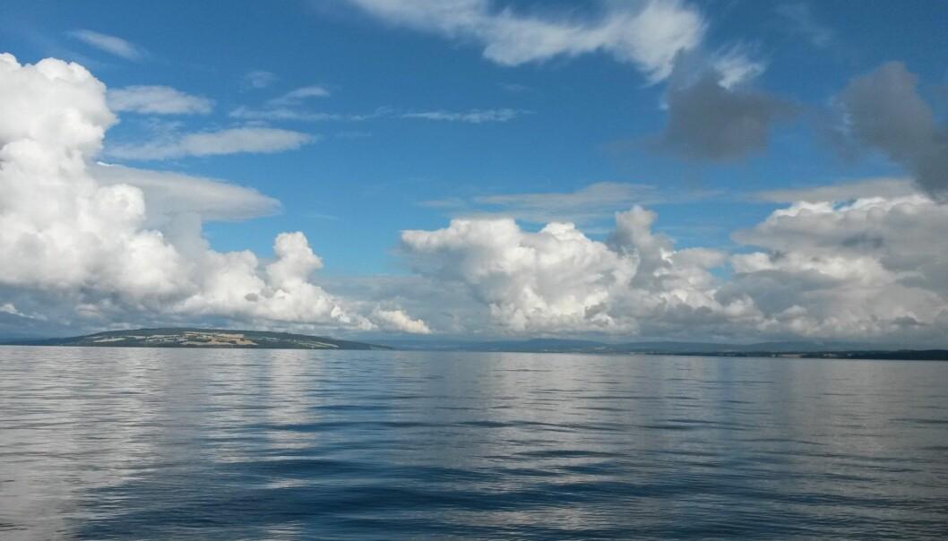 Historien om vannmiljøet i Norges største innsjø er nesten en ren gladsak. I dag er overgjødsling med fosfor halvert og det er lite blågrønnalger i vannet. Her er Mjøsa sett fra Skreia mot nord.  (Foto: Jarl Eivind Løvik, NIVA)
