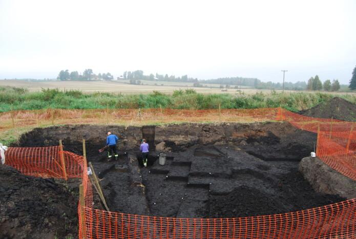 Slik så det ut da utgravingene i Starene foregikk. (Foto: Grethe Bjørkan Bukkemoen / Kulturhistorisk museum)