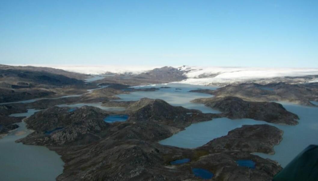 Noen få steder på jorden kan man finne rester fra jordens tidligste barndom. Et av dem er Isua i det sørlige Grønland. Innleiret i en edelstein fra Isua har forskere funnet spor etter det de mener er noe av det eldste livet på jorden.  (Foto: Minik Rosing)