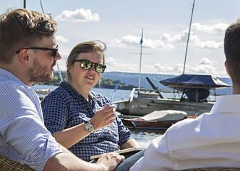 Hanna Tiainen forsker på biomaterialer ved UiO. (Foto: Camilla Kottum Elmar)