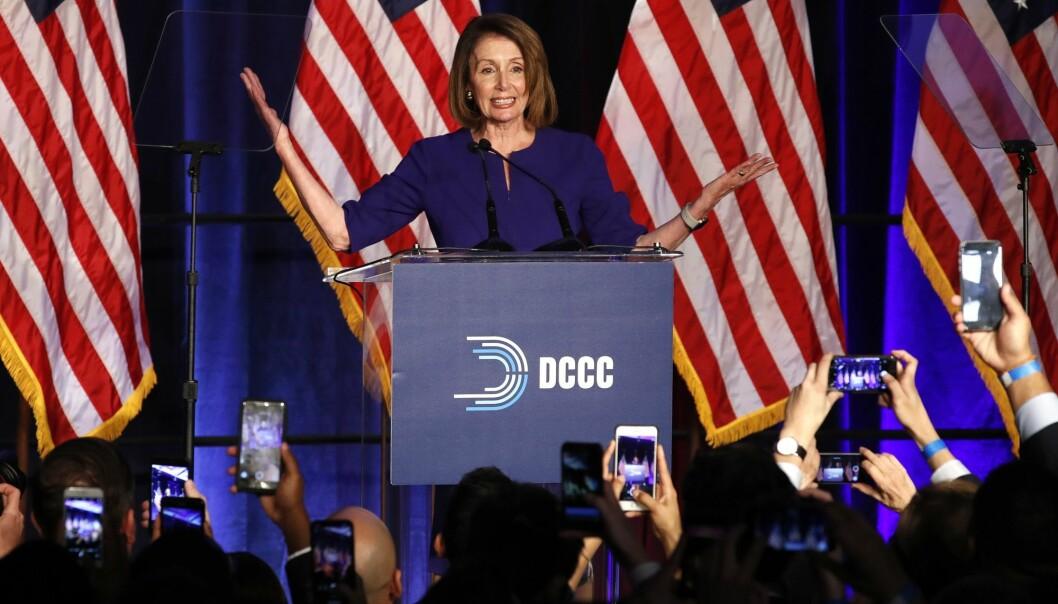 Nancy Pelosi blir trolig ny leder for Representantenes hus, etter Demokratenes valgseier. (Foto: Jacquelyn Martin / AP Photo / NTB scanpix)