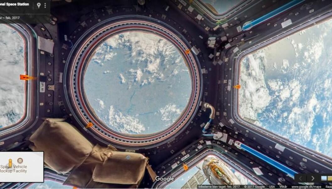 Nå kan du se ned på jorden fra romstasjonen.  (Foto: Screenshot/Google Maps)