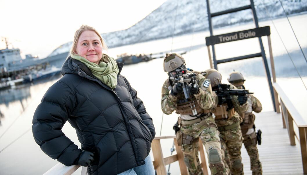 Tone Danielsen tilbrakte ett og et halvt år sammen med Marinejegerkommandoen. I denne podcasten forteller hun hvordan hun måtte bygge tillit hos gutta. (Foto: FFI)