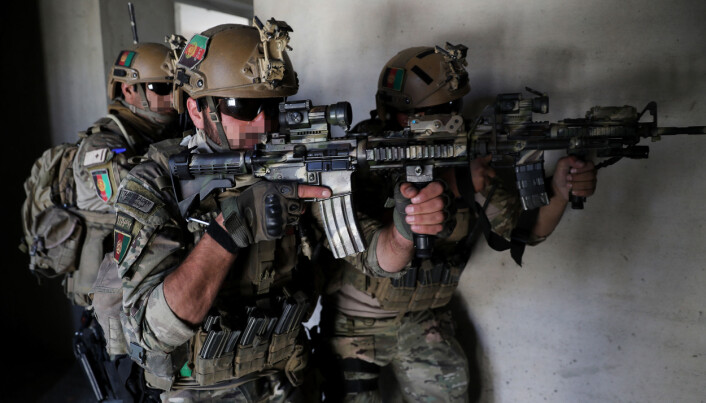 Norske marinejegere jobber også med opplæring, og har blant annet trent det Afghanske spesialpolitiet. (Foto: Torbjørn Kjosvold / Forsvaret)