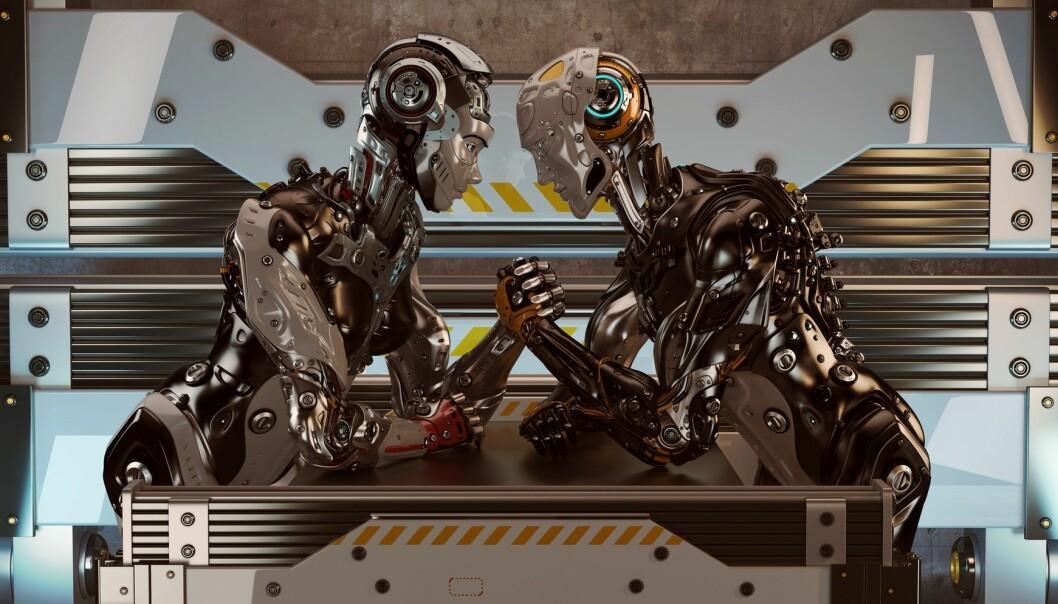 Har roboter kjønn? Robotprodusenter former kjønnede roboter med utgangspunkt i hvordan de forstår kjønn i samfunnet, mener forskere. (Illustrasjon: Ociacia / Shutterstock / NTB scanpix)