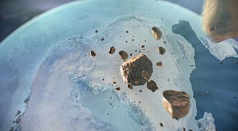 Har funnet et kjempekrater en kilometer under Grønlandsisen