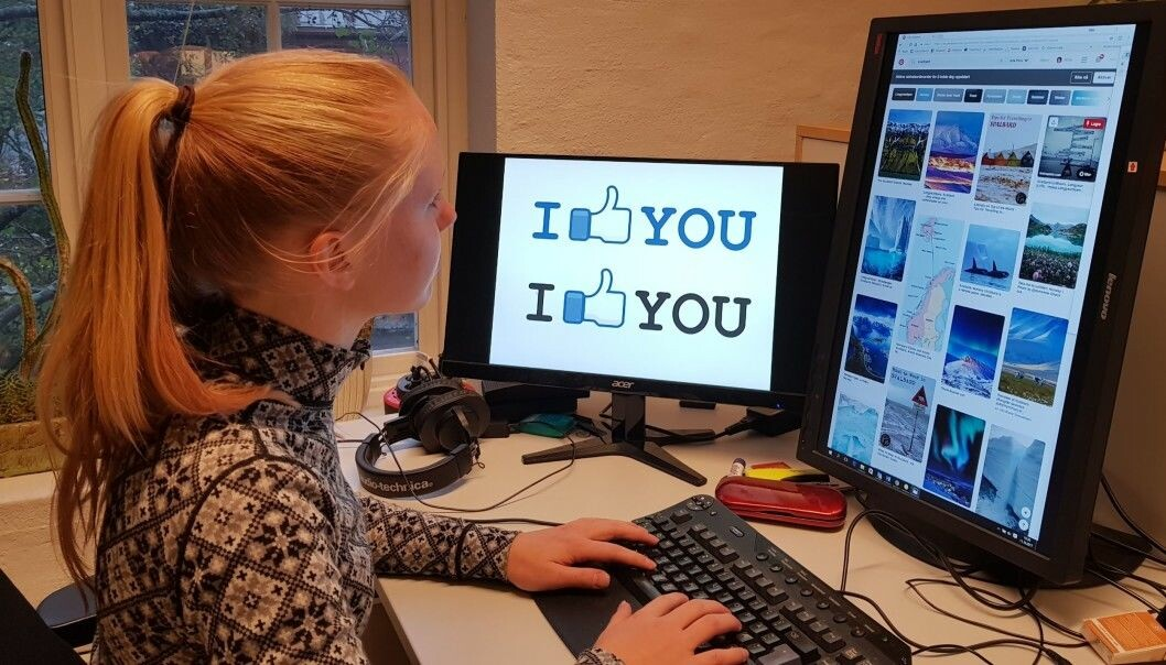 Ungdomsreporter Ida Frøyland bruker selv sosiale medier, men sjeldnere og sjeldnere Facebook. Hun lurer på hvor de unge har blitt av. (Foto: Nina Kristiansen)