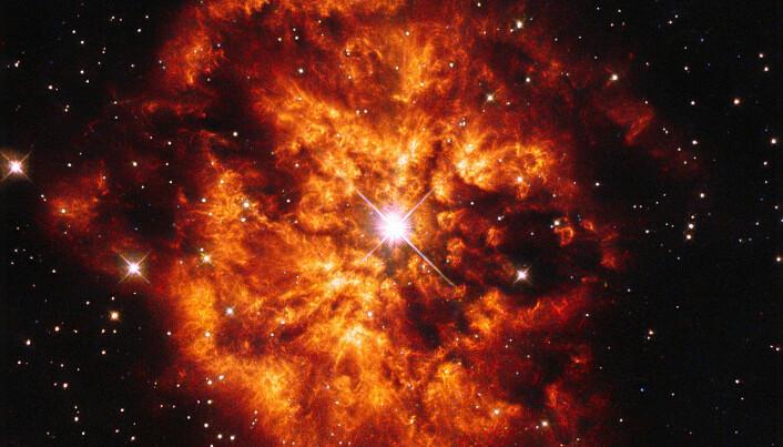 En annen Wolf-Rayet-stjerne, kalt WR 124. Den ligger rundt 28 000 lysår unna. (Bilde: Judy Schmidt)