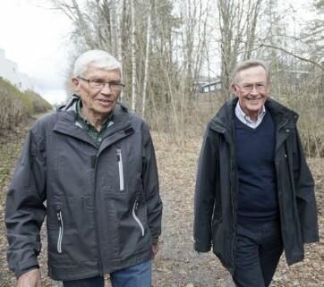 Dette er Viggo (t.h.) og Arve som er omtalt i artikkelen om demensskolen. (Foto: Anne Elisabeth Næss)