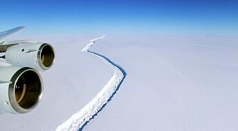 Enormt isflak har løsnet i Antarktis