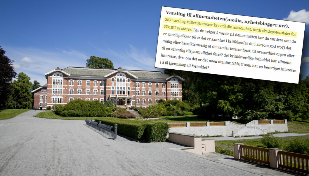 Flere universiteter ber studentene være forsiktig med å varsle media