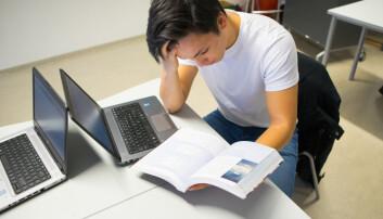 En ny undersøkelse fra forskningsinstitusjonen NOVA ved Høgskolen i Oslo og Akershus viser en klar sammenheng mellom skolestress og psykiske helseplager hos ungdom. (Foto: Thomas Brun / NTB scanpix)