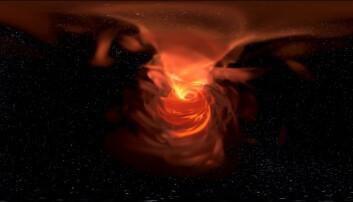 Se en detaljert simulering av et sort hull