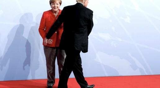 Verden stoler på Merkel, ikke på Trump og Putin