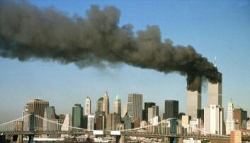Sommeren 2001 fikk Thomas Hegghammer sommerjobb på FFI. Her kom han første gang i kontakt med fenomenet Al-Qaida og Bin Laden. Så smalt det i New York. (Foto: Reuters / Brad Rickerby / NTB Scanpix)