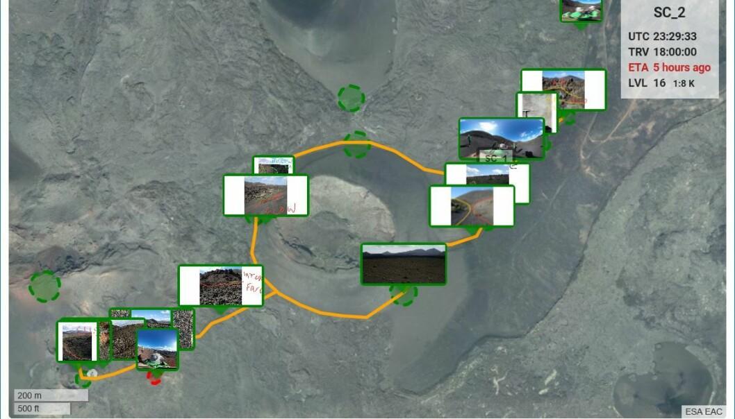 : Slik ser planetforsker-appen ut på skjermen. (Foto: ESA/L- Turchi)