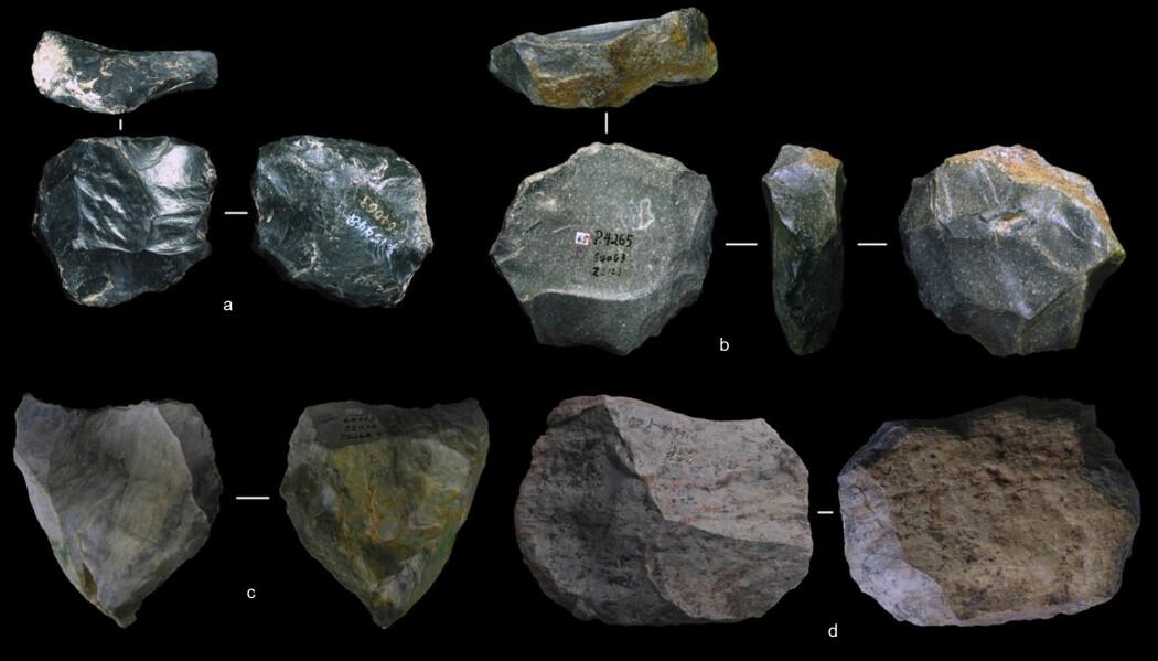 80 000–170 000 år gamle steinverktøy funnet i en hule tyder på at asiatiske fortidsmennesker var tidlig ute med teknologien. (Foto: Marwick et al.)