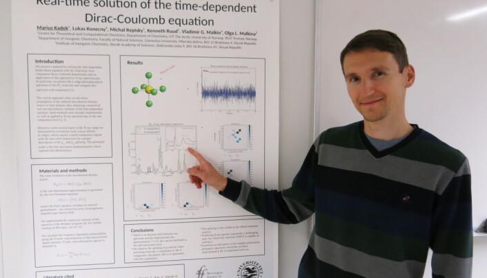 Marius Kadek er fra Slovakia og hadde en master i teoretisk fysikk fra Universitetet i Bratislava før han tok en doktorgrad ved CTCC/Hylleraas senteret, Institutt for kjemi i Tromsø. (Foto: Vibeke Os)