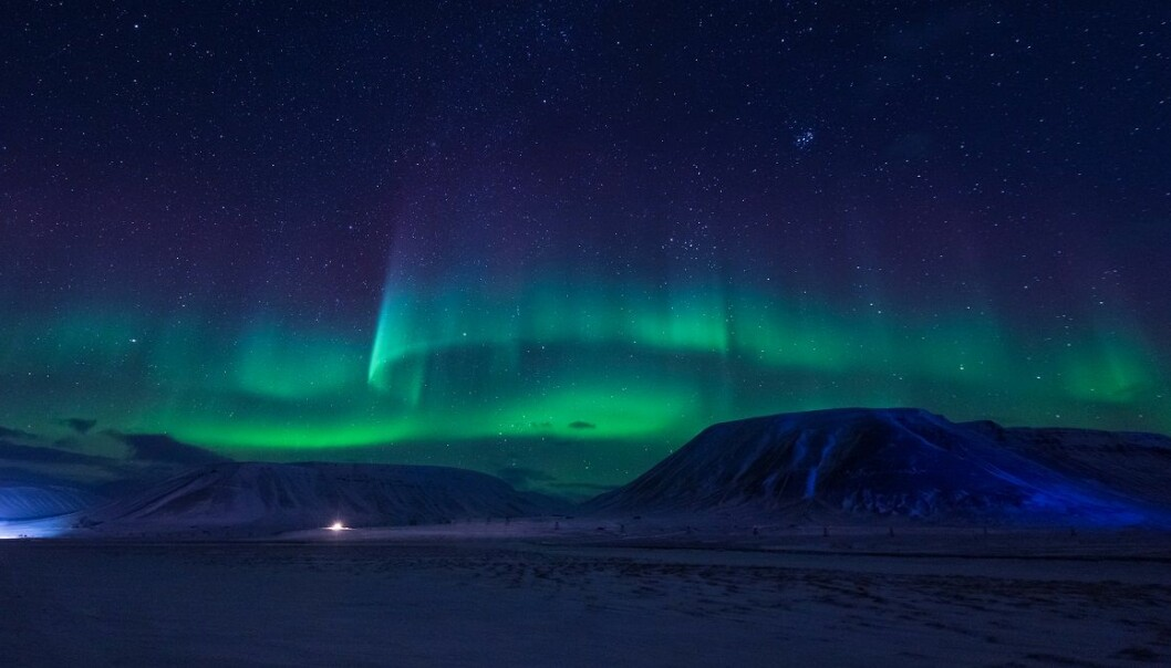Nordlys over Svalbard. (Foto: Shutterstock / NTB scanpix)