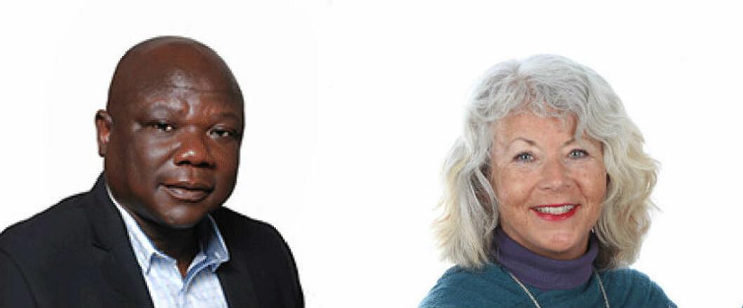 USN-forskerne Moses D. Kuvoame og Annett Arntzen skal levere kunnskap til Regjeringen. (Foto: UiO / USN)