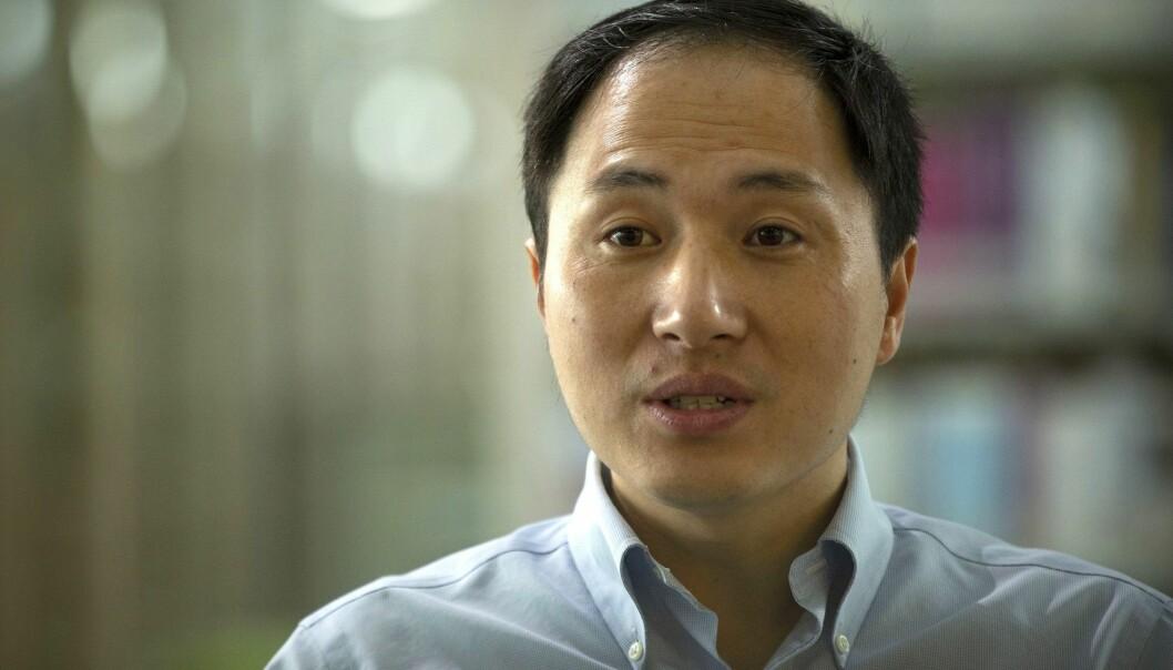 Forsker He Jiankui har ledet et team som hevder å ha genredigert to tvillingers arvemateriale for å gjøre dem motstandsdyktige mot hiv-viruset. (Foto: AP / NTB scanpix)