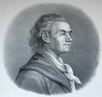 Det finnes ingen bevarte tegninger av beskjedne Caspar Wessel. Han liknet kanskje ikke så mye på broren Johan Herman (bildet). (Tegning: Wikimedia Commons)