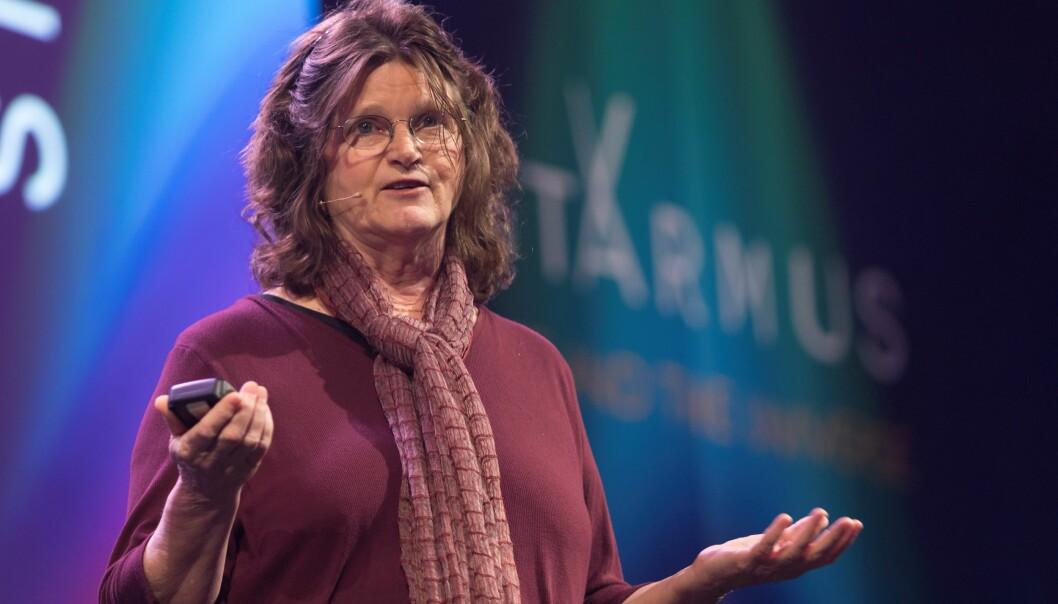 Marinbiolog Nancy Knowlton oppfordret Starmus-publikummet i Trondheim til å dele de gode historiene. (Foto: Thor Nielsen, NTNU)