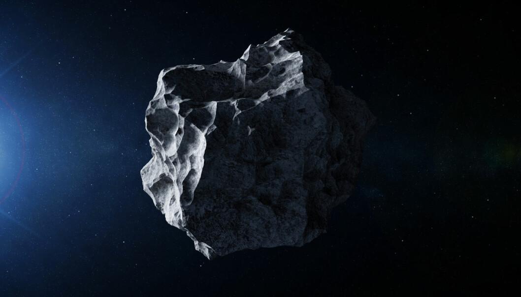 Man kan bruke dynamiske systemer for å beregne hvor en asteroide vil befinne seg ti år i framtiden. (Illustrasjon: Rashevskyi Viacheslav / Shutterstock / NTB scanpix)