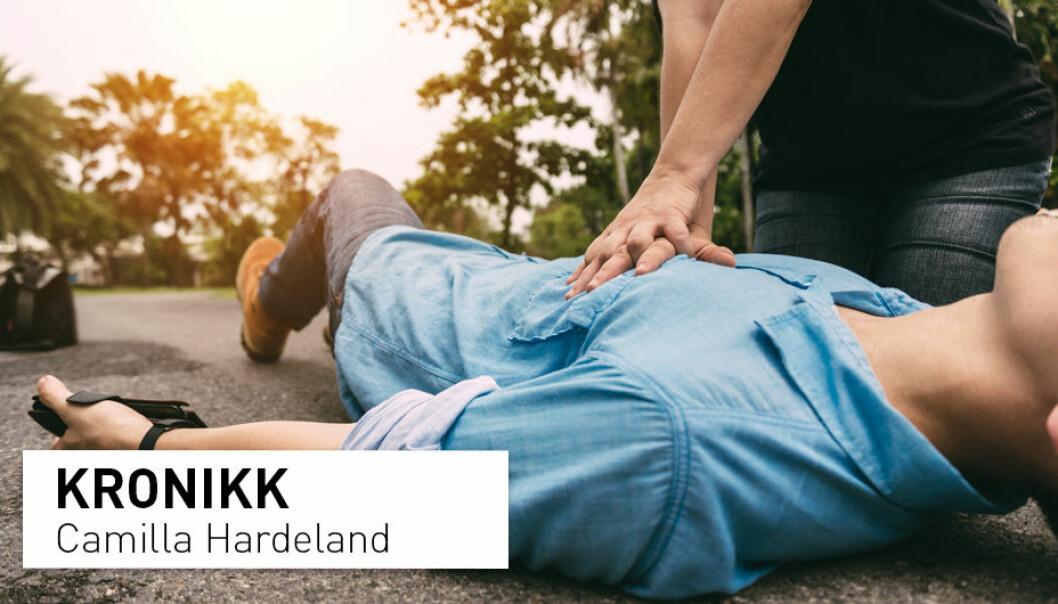 – Hvis du er i tvil om pasienten puster normalt, er du ikke i tvil om hva du skal gjøre. Da skal du starte hjerte-lungeredning. Det kan redde liv, skriver kronikkforfatteren. (Illustrasjonsfoto: Shutterstock / NTB Scanpix)