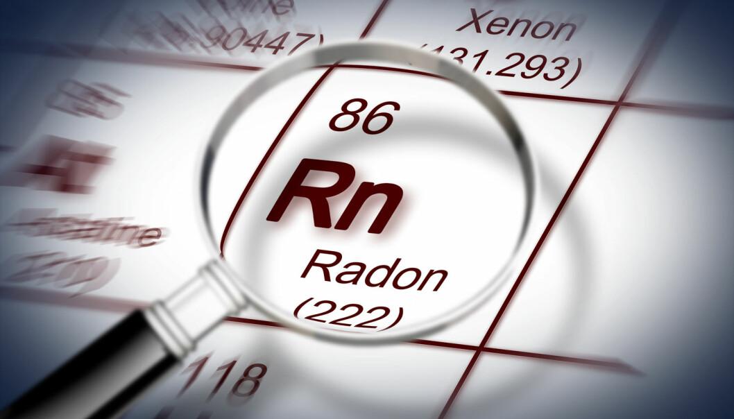 Radon er et radioaktivt grunnstoff. Det kan danne en usynlig gass som settes i sammenheng med lungekreft. Men er radon også årsak til hudkreft?  (Bilde: Francesco Scatena/Shutterstock/NTB Sscanpix)