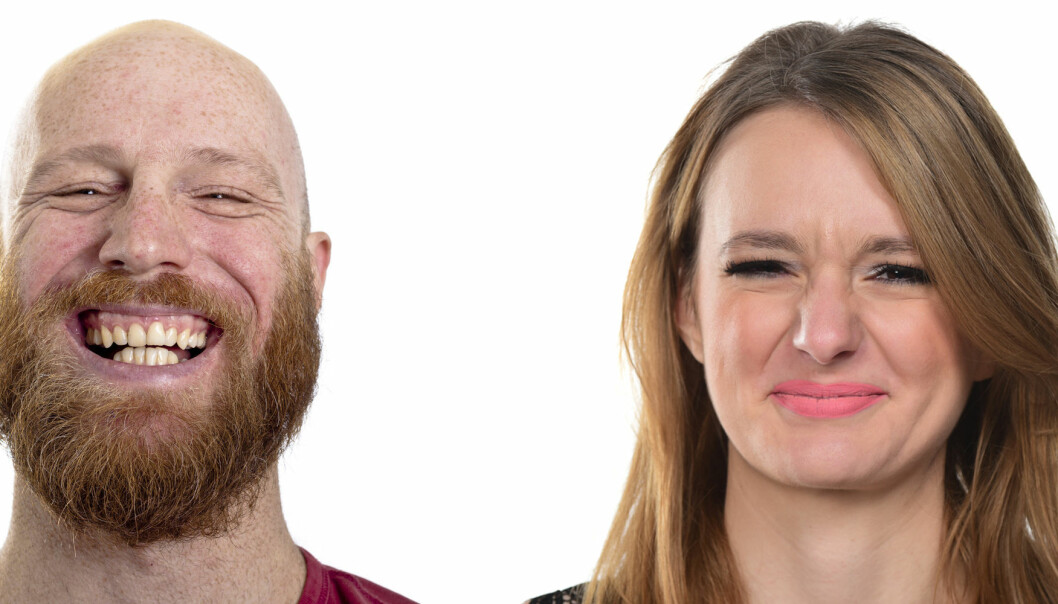 Mange menn ler av kvinnediskriminerende humor. Kvinner smiler stivt, gjør en grimase, ler kunstig eller blir sint.  (Foto: Shutterstock / Scanpix)