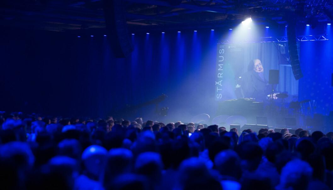 Hvem sitter i publikum på Starmus? Vi har snakket med et lite utvalg.  (Foto:  Kai T. Dragland / NTNU)