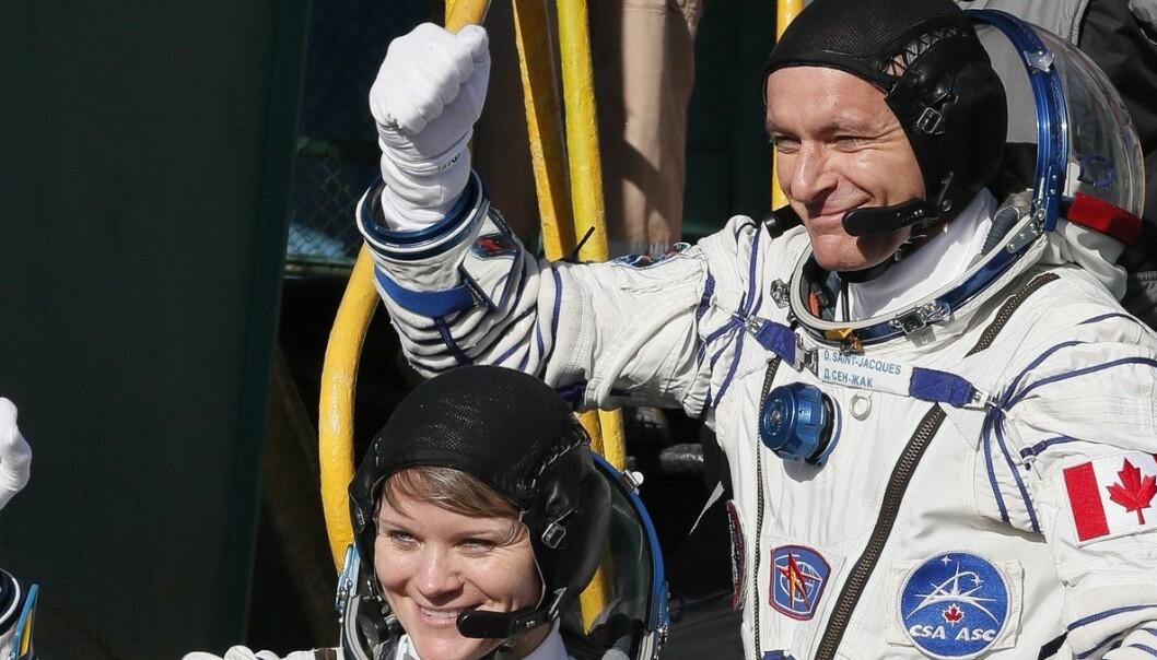 Vellykket utskyting av tre astronauter