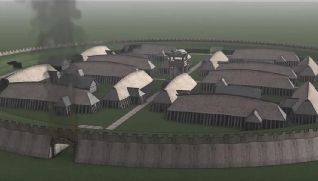 Nytt funn kan skrive om historien om de danske vikingborgene