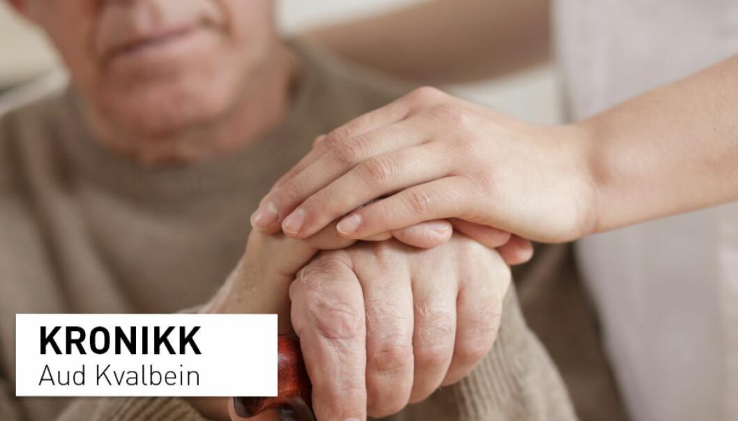 – Forsk først og fremst på de sykehjemmene som vi har for demensrammede i dag, og på de låste avdelingene der svært syke demensrammede mister sin frihet og sin hverdag. Jeg vil også si, sin verdighet, skriver Aud Kvalbein. (Foto: Shutterstock / NTB scanpix)
