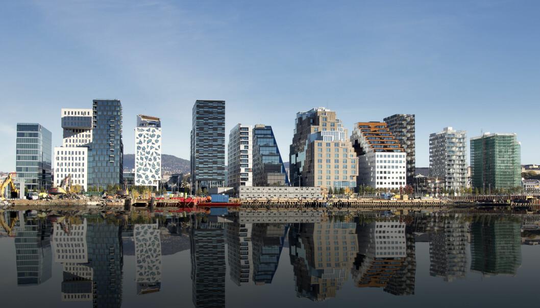 Sement er et av verdens vanligste byggematerialer, og produksjonen står for syv prosent av klimautslippene våre. Det må vi gjøre noe med. Dette bildet er fra Oslo. Foto: Shutterstock / NTB Scanpix)