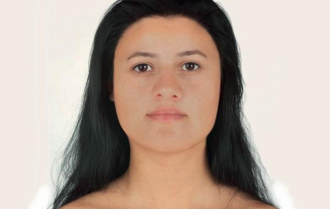 Ava hadde et rundt ansikt, med brune øyne og mørkt hår. (Bilde fra forskningsartikkelen)