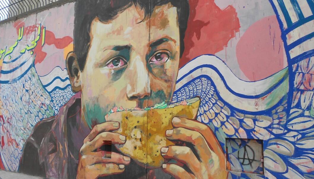 I begynnelsen ble martyrene malt rett ut fra bilder som sirkulerte i sosiale medier. Bildene var gjerne fargerike og personene ble malt med englevinger . (Foto: Giulia Giubergia).