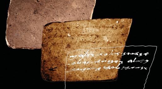Fant flere tusen år gammel beskjed på baksiden av leirbit